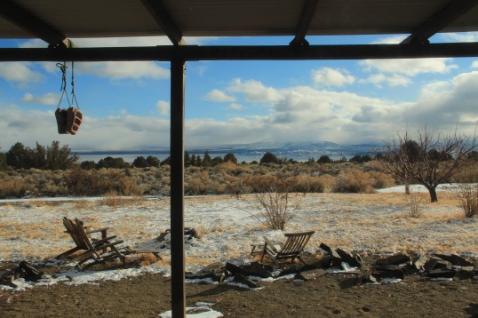 The view from the cabin at Mono Lake. Needless to say, it was difficult to leave.