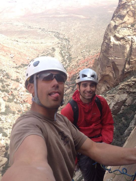 Evan and I on the top of Sour Mash, and amazing 5.10 route in Black Velvet Canyon