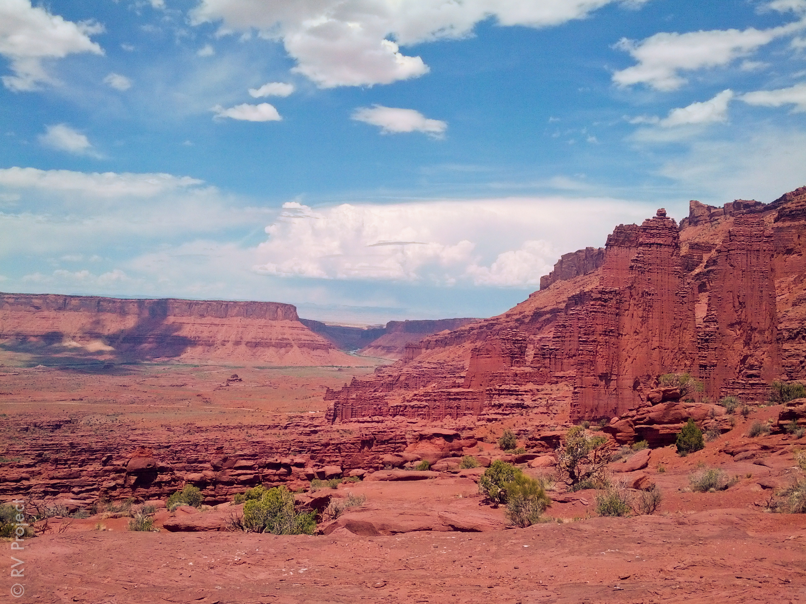 A view of Fisher Towers from the end of the hike.