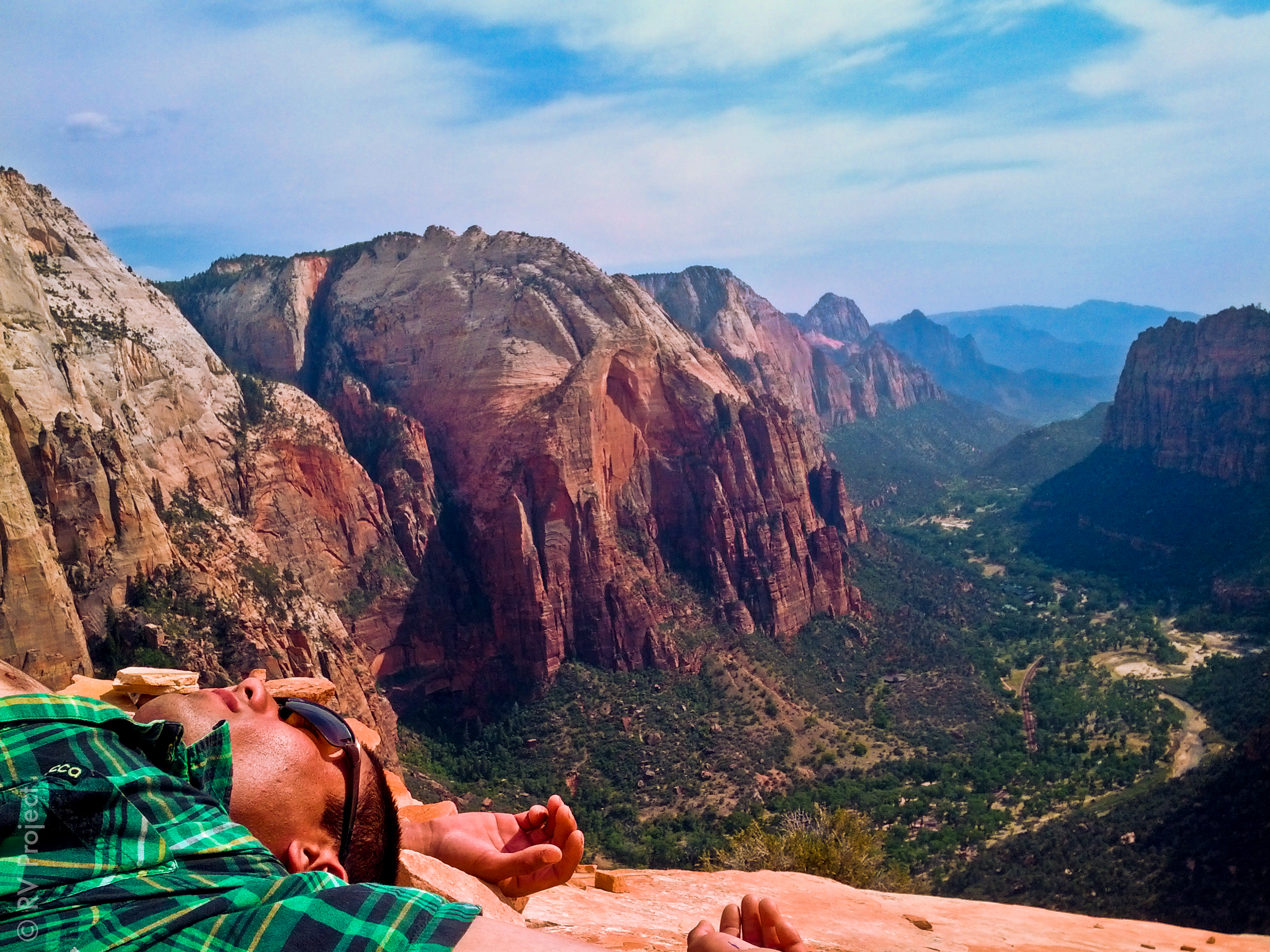 The view from the top of Angel's Landing. A great place to relax.