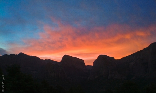Catching the sunrise over Kolob Canyon at Zion National Park before heading back to Cali.