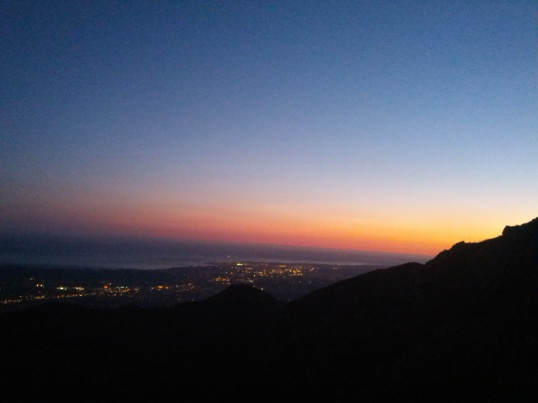 Not the best photo, but you get the idea. Sunsets at the boulders are nearly always spectacular.