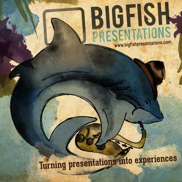Created an album cover for a contest hosted by the agency Bigfish Presentations. The object  was to represent the company as if they were a band.
