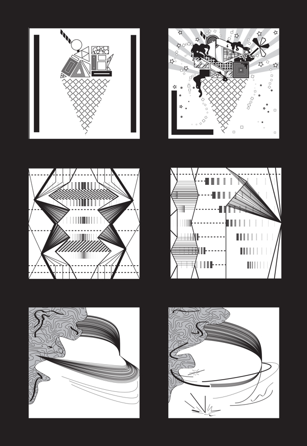 """This Project Represents the valuable process of learning. Each pair of boxes represent opposite words as """"Simple-Complex"""", """"Symmetry- Asymmetry"""" and """"Balance- Unbalance"""". What I love the most about this project is that it was my very first illustrator file back in 2011. It is literally the """"learning illustrator"""" project which also introduced me to the representation of a concept through abstraction."""