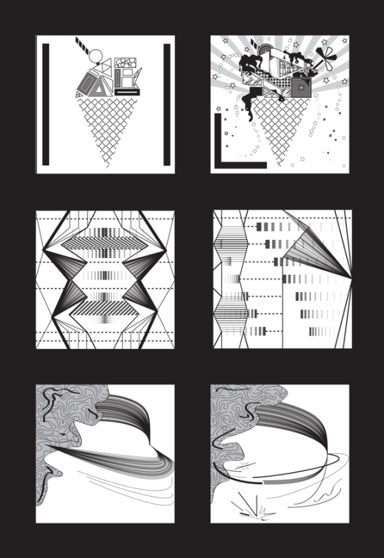 "This Project Represents the valuable process of learning. Each pair of boxes represent opposite words as ""Simple-Complex"", ""Symmetry- Asymmetry"" and ""Balance- Unbalance"". What I love the most about this project is that it was my very first illustrator file back in 2011. It is literally the ""learning illustrator"" project which also introduced me to the representation of a concept through abstraction."