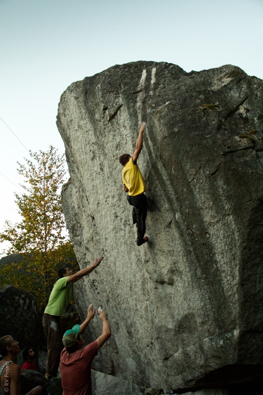 David calmly bests the many cruxes of Animal Magnetism (V7).