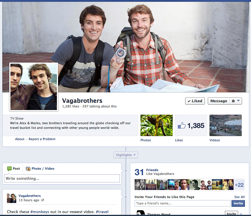 Mark (from my graduating class) and his brother, The Vagabrothers.